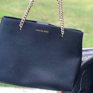 Plain black Michael Kors purse